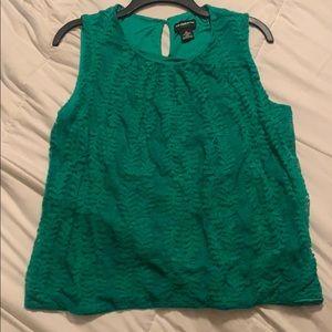 Liz Claiborne size Large lace Green Blouse
